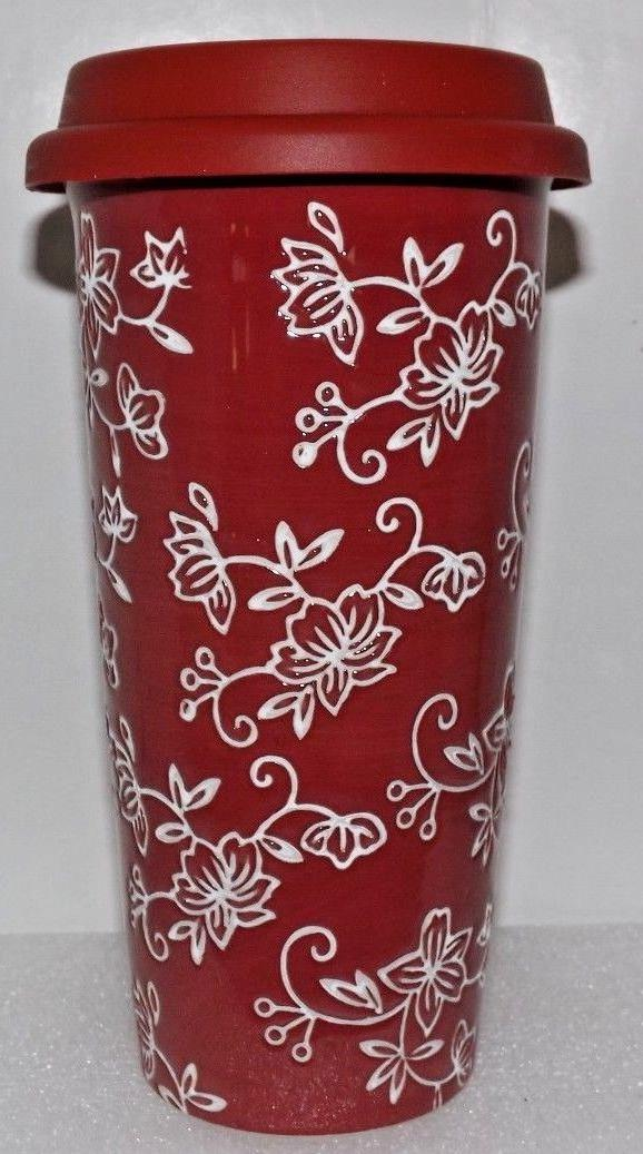 2x Temp-tations Floral Lace Romance 16 oz. Travel Mug Silico
