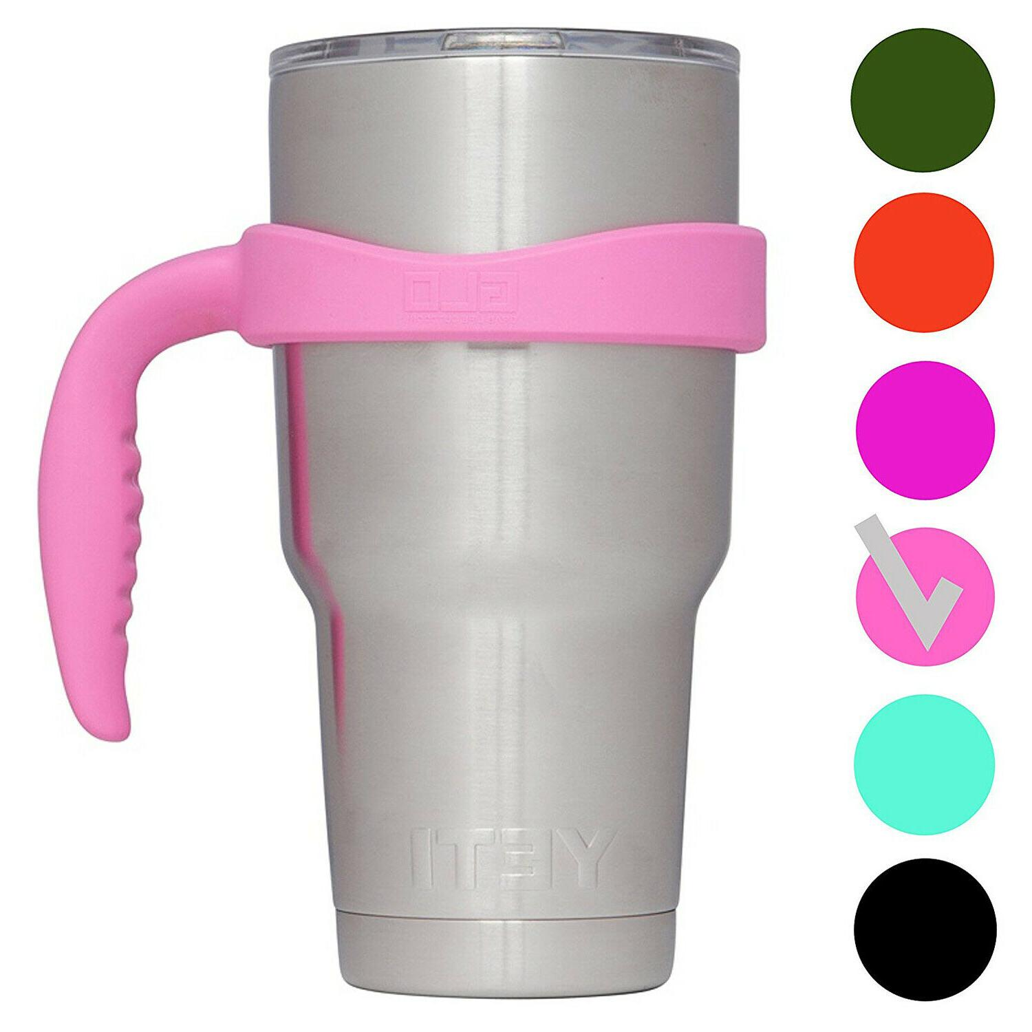 30 Oz Handle Holder Grip Tumbler Pink