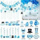 30 Pcs Baby Shower Decorations Its A Boy Banner Swirl Hangin