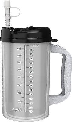 32 oz with Black Lid Insulated Cold Drink Mug