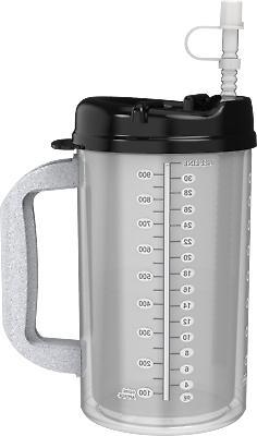 32 oz insulated hospital mug with black