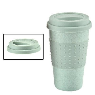 350ML Travel Coffee Water Straw Wheat Cup