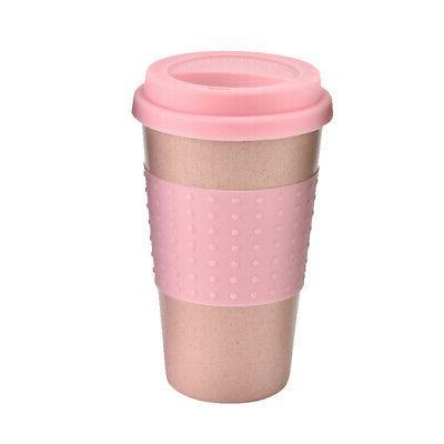 350ml Travel Mug Office Coffee Tea Water Bottle Cups Straw W