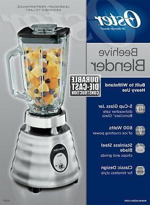 Oster Jar 2-Speed Beehive Blender, Brushed