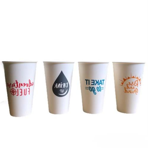 4pk reusable travel coffee cups with lids