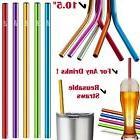 5 Aluminum Straws Drinking Yeti Tumbler Metal Reusable Smoot