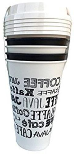 5 reusable go cups chalkboard