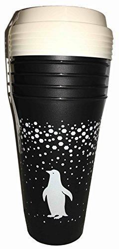 Aladdin 5 Reusable To-Go Cups Festive Penguin