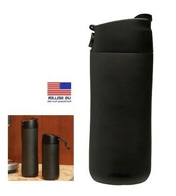 Aladdin Flip and Sip Vacuum Insulated Mug, 12-Ounce, Black