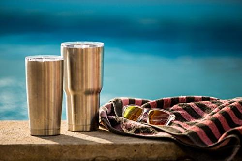 BEAST Tumbler Coffee Travel Mug Splash Lid, Straws, Gift Greens