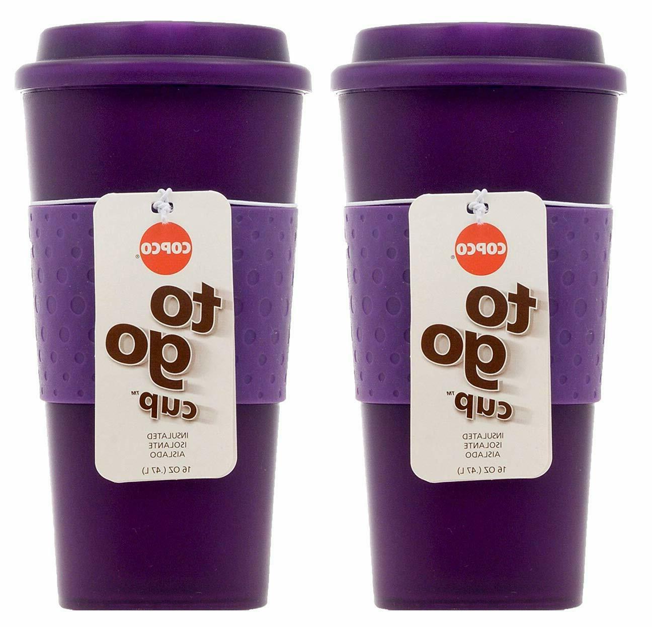 Copco Acadia Travel Mug, 16-Ounce, Translucent Purple