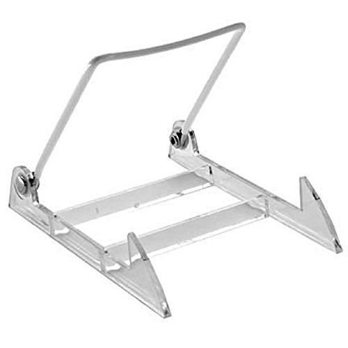 GIBSON HOLDERS 2PL Display Stand with Clear Base, Medium, Wh