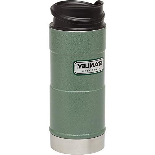 Stanley One Hand Vacuum Hammertone Green
