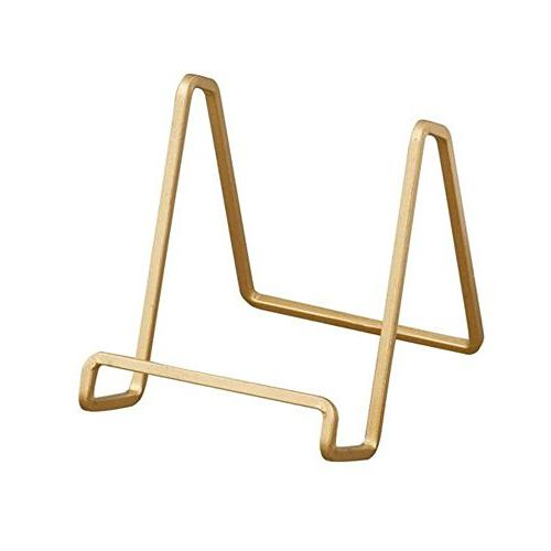 TRIPAR 50223 3.78 Inch Gold Color Metal Square Wire Stand