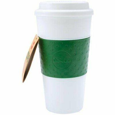 acadia plastic nsulated portable traveler coffee mug