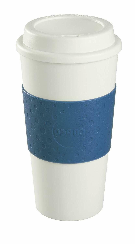 Copco 16-Ounce Capacity Acadia Reusable To Go Mug, Blue