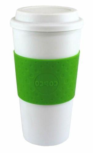 Copco Acadia BPA Free Plastic Insulated Traveler Coffee Mug