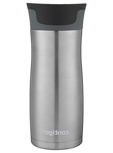 Contigo Vaccuum-Insulated Mug, 16 oz, Steel 2-pack
