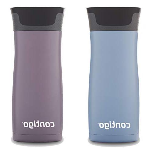 Contigo Vacuum-Insulated Stainless Travel Mug, 16 Earl Grey/Dark