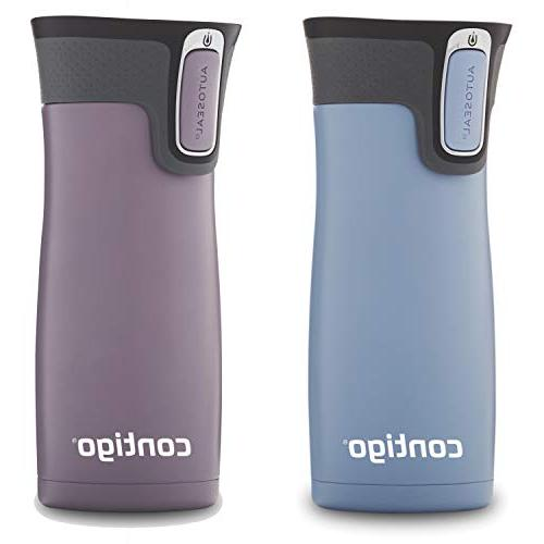 Contigo Vacuum-Insulated Stainless Steel Mug, 16 oz, 2-Pack, Earl