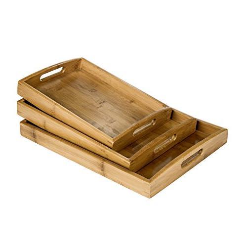 bamboo rectangular nesting breakfast