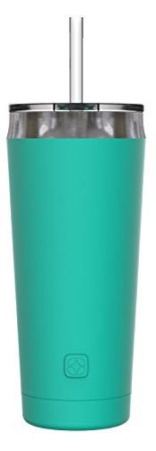 Ello Beacon Stainless Steel Vacuum Insulated Tumbler with Op