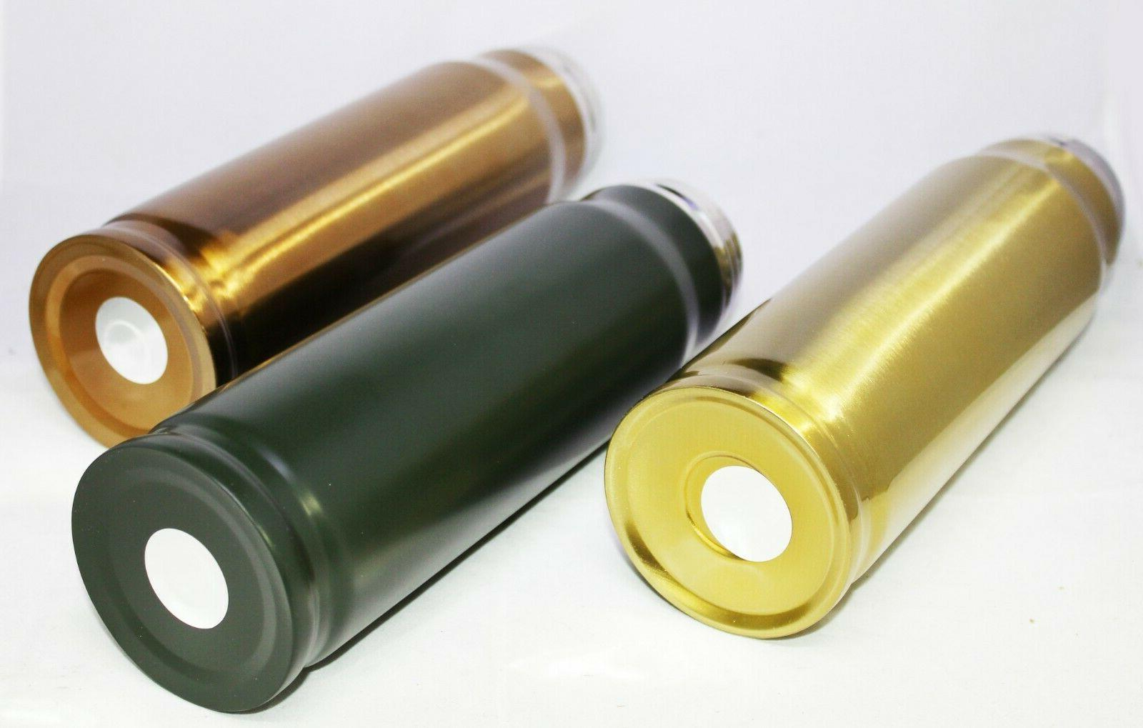 Bullet Military Hunting Flask Stainless Steel