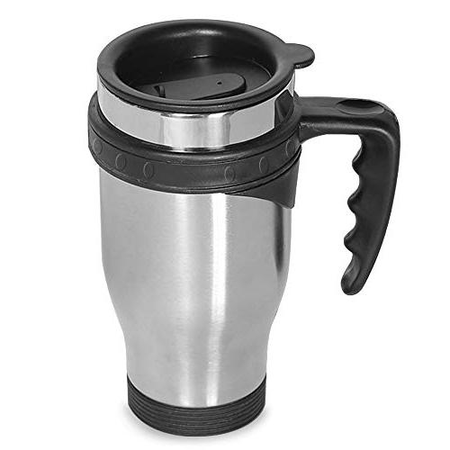 ONEB Mug, 500ml handle Stainless Steel Travel Insulated Thermos Mug, Coffee, Milk Airtight Lid,