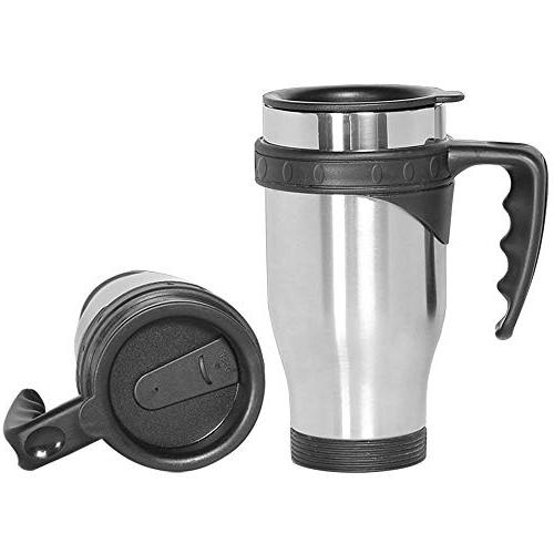 ONEB Car 500ml handle Steel Travel Cup Insulated Thermos Coffee, Milk and Tea Airtight
