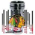 Chicago Blackhawks Logo Travel Mug Tumbler Stainless Steel N