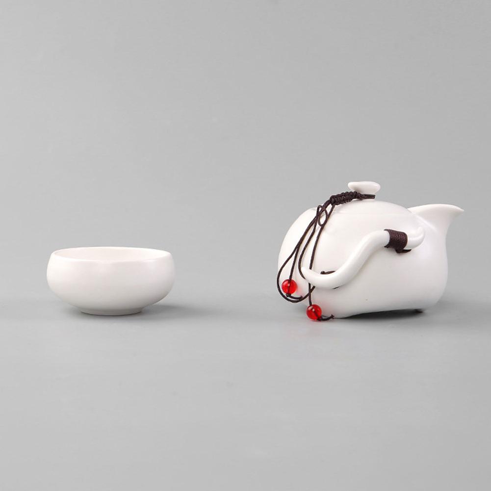 chinese set Portable Ceramic Teacup Kungfu <font><b>Tray</b></font> Storage for <font><b>Travel</b></font>