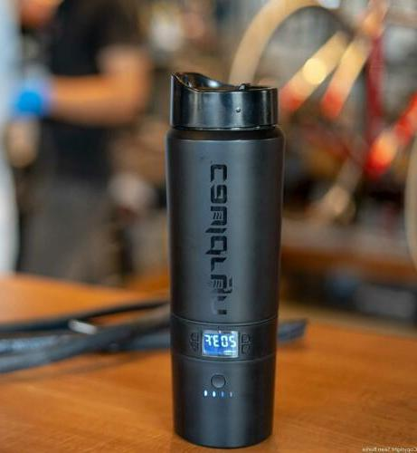 Cauldryn Coffee Heated Mug w/ Grinds Brews, w/