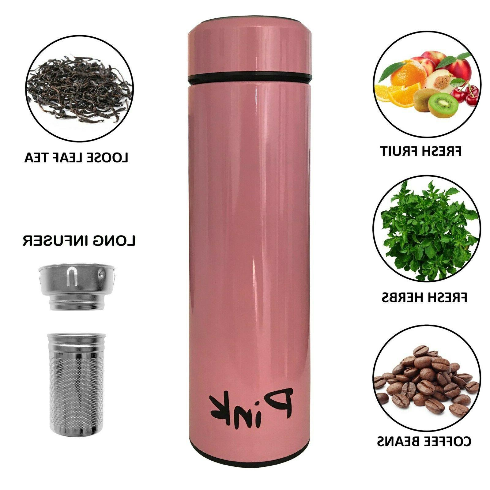 Coffee Thermos - Long Tea infuser Bottle - Insulated Travel