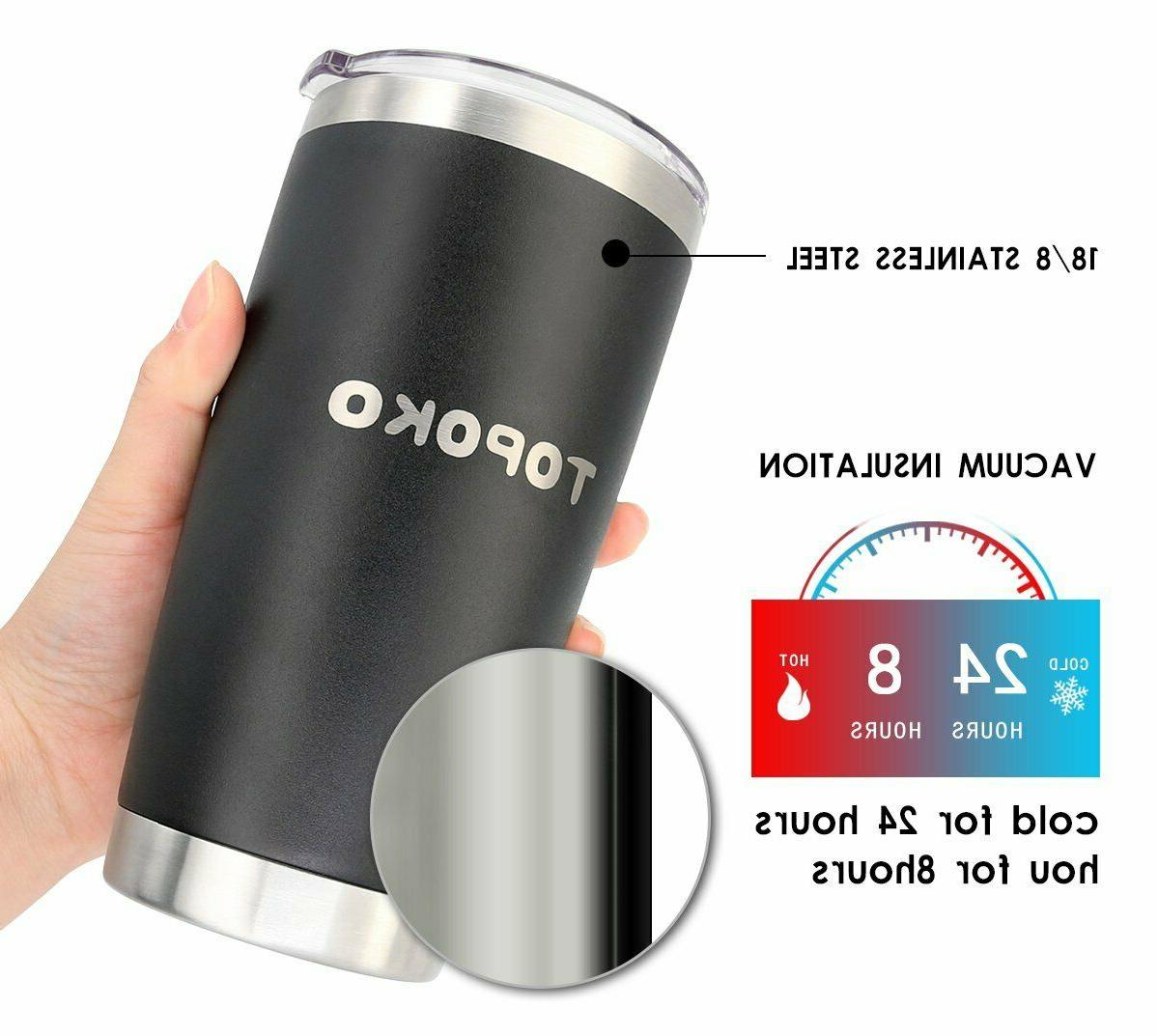 Coffee Tumbler Insulated Mug, Stainless Spill Proof Travel