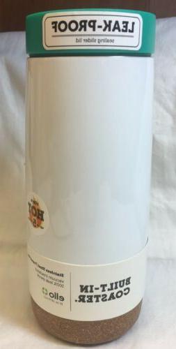 Ello Cole Vacuum-Insulated Stainless Steel Travel Mug Teal 1
