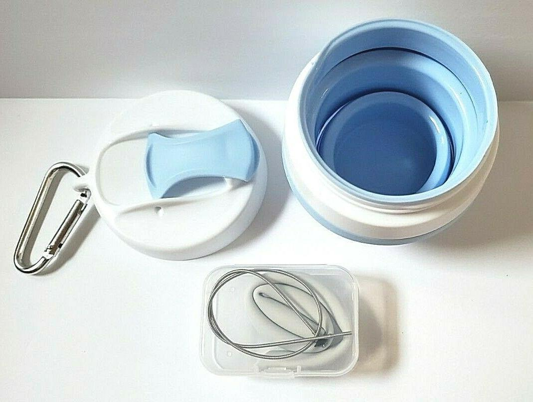Collapsible, Cup, Mug with Lid - Blue
