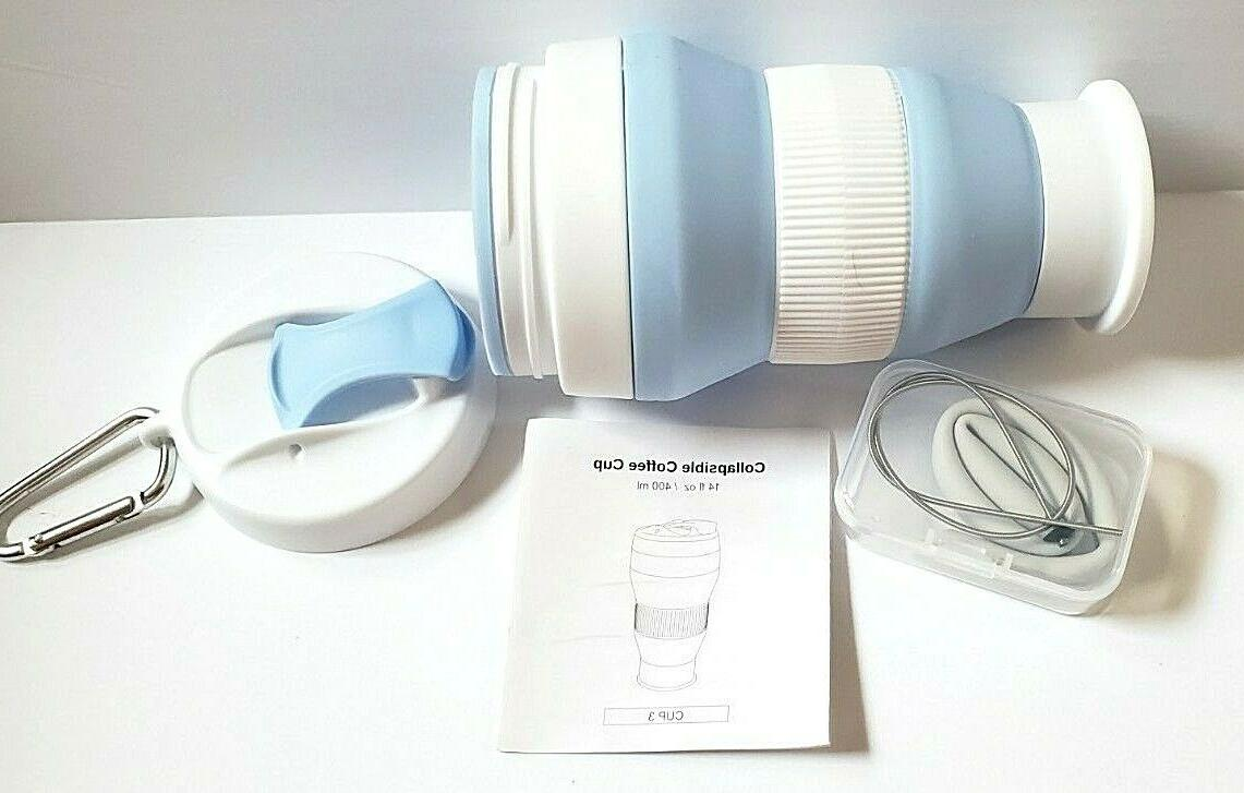 collapsible portable travel coffee cup mug
