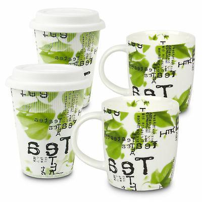 East Urban Home Contemporary Tea 4 Piece Travel Mug Set