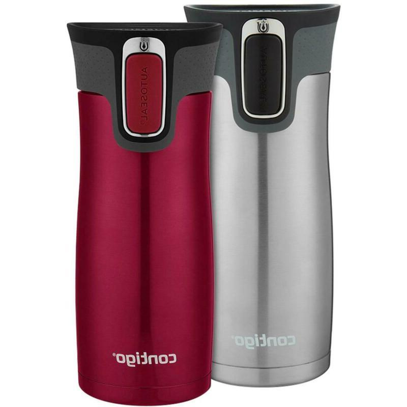 Contigo 16 Oz. West Loop Autoseal Travel Mug 2-Pack - Stainl