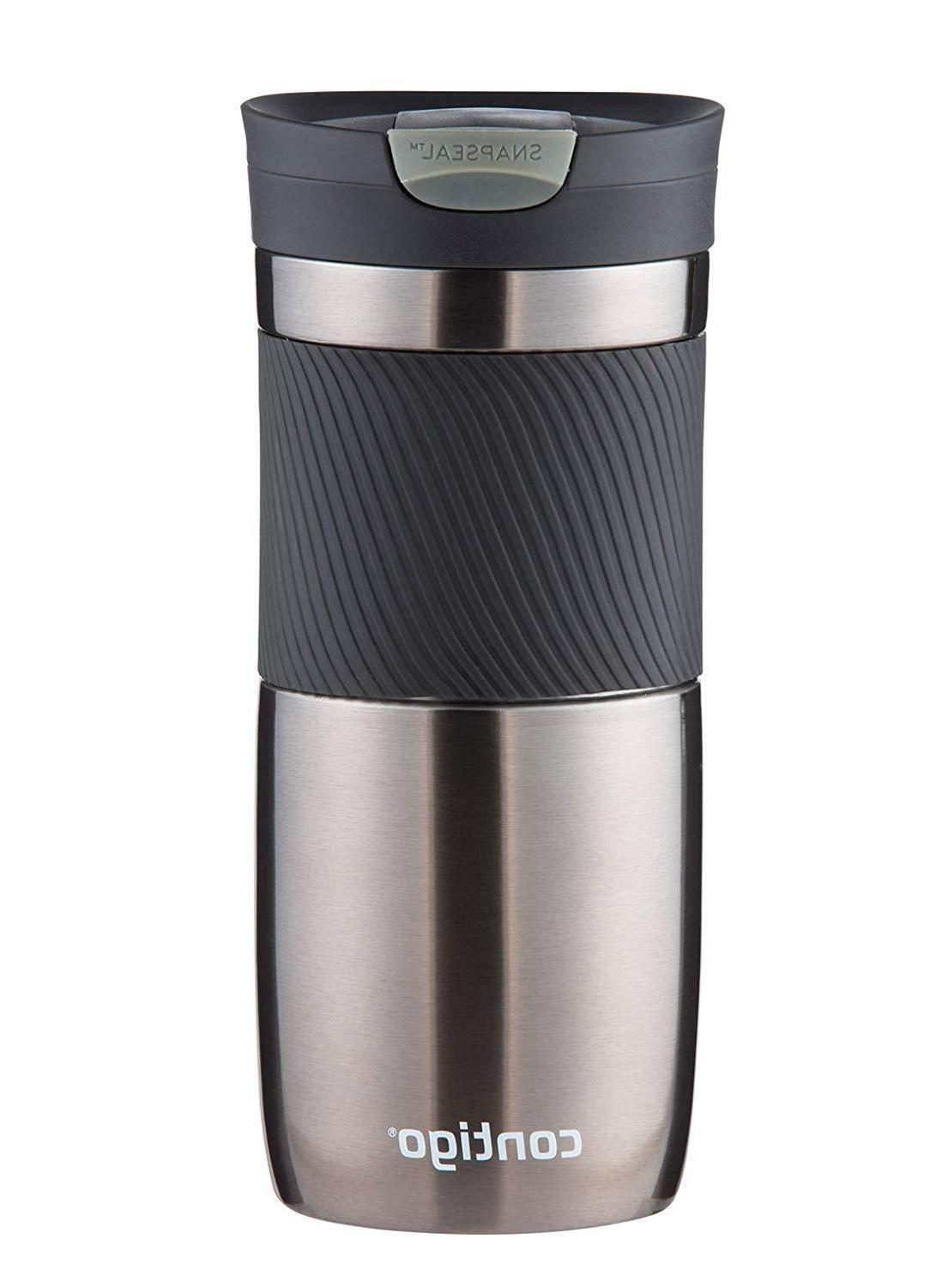 Contigo SnapSeal Byron Stainless Steel Travel Mug, 24 oz., M