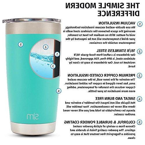 Simple Modern Tumbler Double Wall Hydro 18/8 Travel