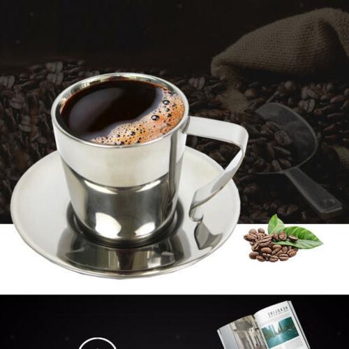 Double Coffee Mug Tea Cup with