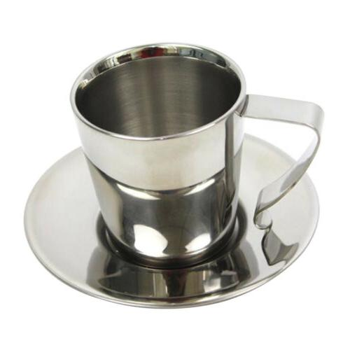 Double Mug Espresso Cup with Saucer Camping