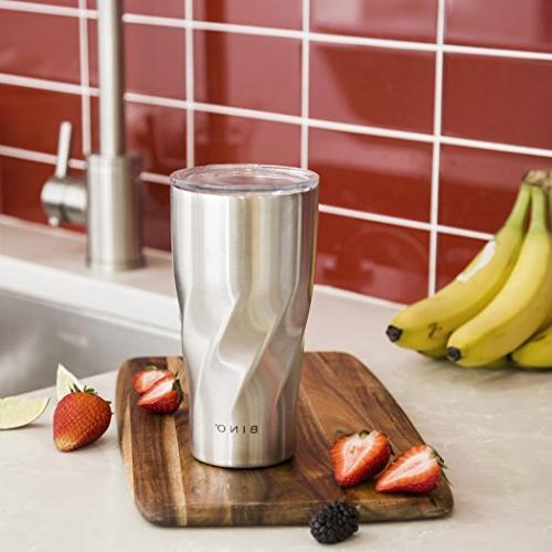 BINO Double Insulated Steel 20 oz Travel Mug, Steel