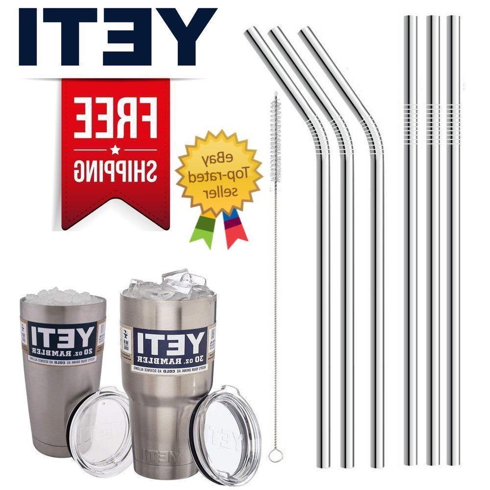 Drinking Straws Stainless Steel Tumbler YETI Cup Travel Mug