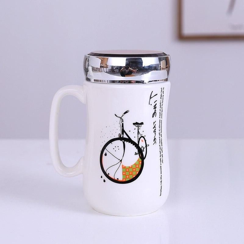 Exquisite <font><b>Mug</b></font> Tea Cup <font><b>Mugs</b></font>,Ceramic Europe <font><b>Travel</b></font> <font><b>Mug</b></font> Handgrip