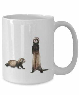 ferret travel mug funny tea hot cocoa