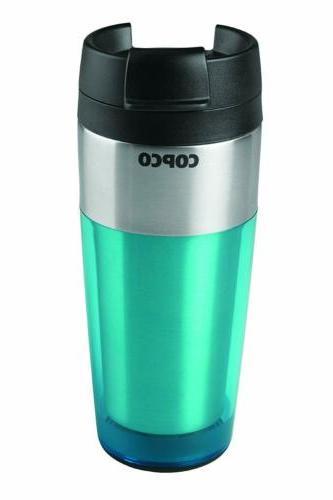 firefly insulated tumbler with spill resistant flip