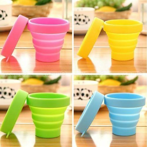 Folding Home Kitchen Travel Mug Cup Silicone Telescopic Coll