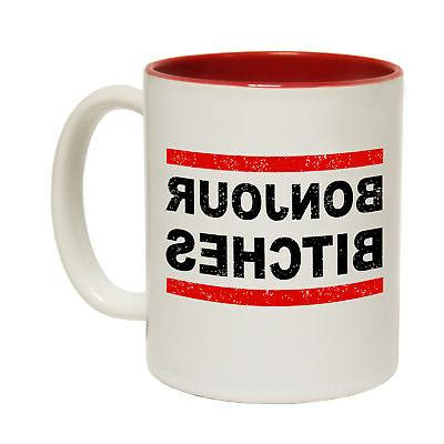 Funny Mugs - Bonjour B*tches - Travel Explore Holiday Camp T